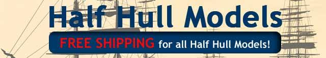 Half Hull Models Clipper Tramp Steamer Ships