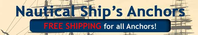 Nautical Ships Anchors Free Shipping