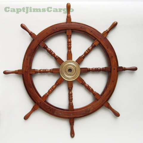 Ships Teak Steering Wheels